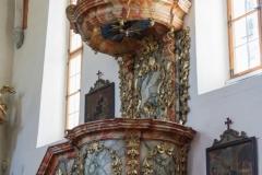 Kanzel der Pfarrkirche.