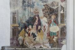 Fresko, es zeigt die Kreuzabnahme und anschließende Beweinung Jesu.