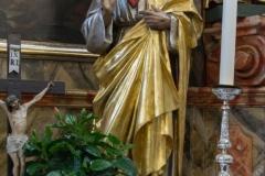 Herz-Jesu Statue beim rechten Seitenaltar.